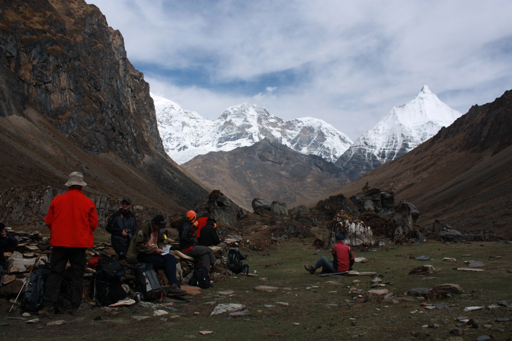 Guests at Jhomolari Base Camp