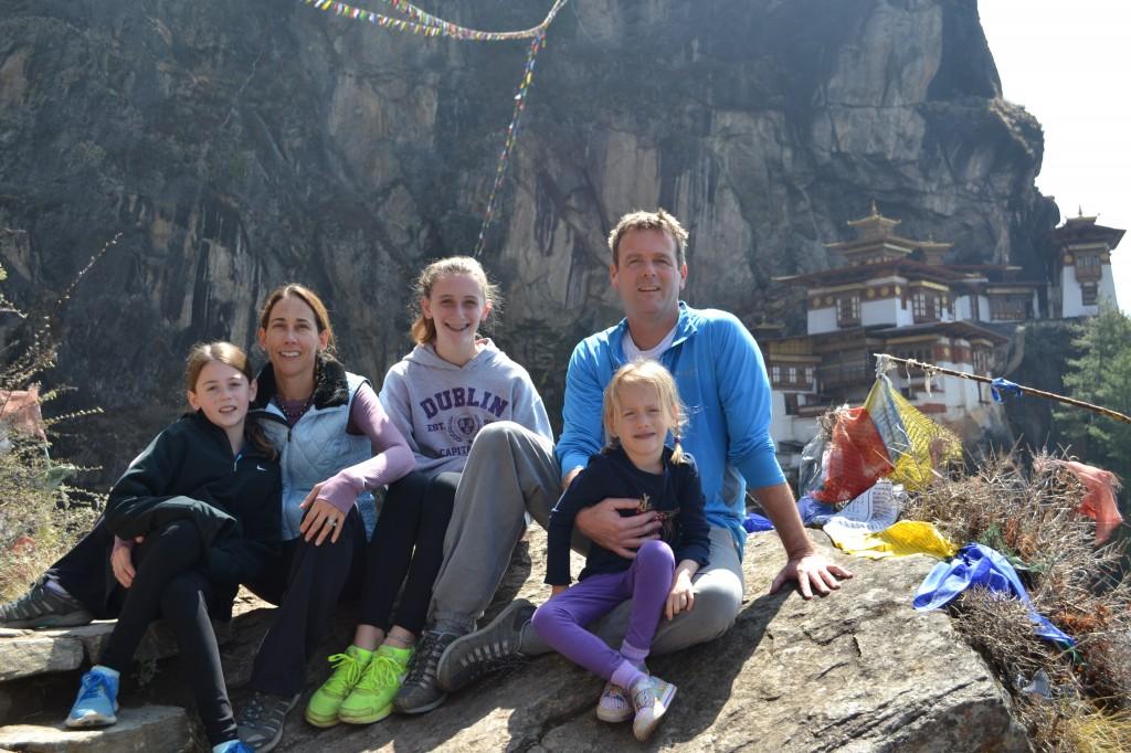 Sheridan Family at Taktsang Monastery