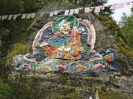 Rock painting of Guru near Tango monastery