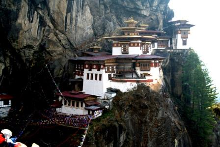 Taktsang Monastery (Paro). The cultural icon and quintessential of Bhutan tour.