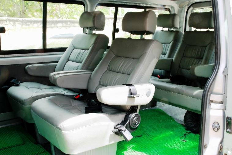 Revamped interior of Hiace Bus