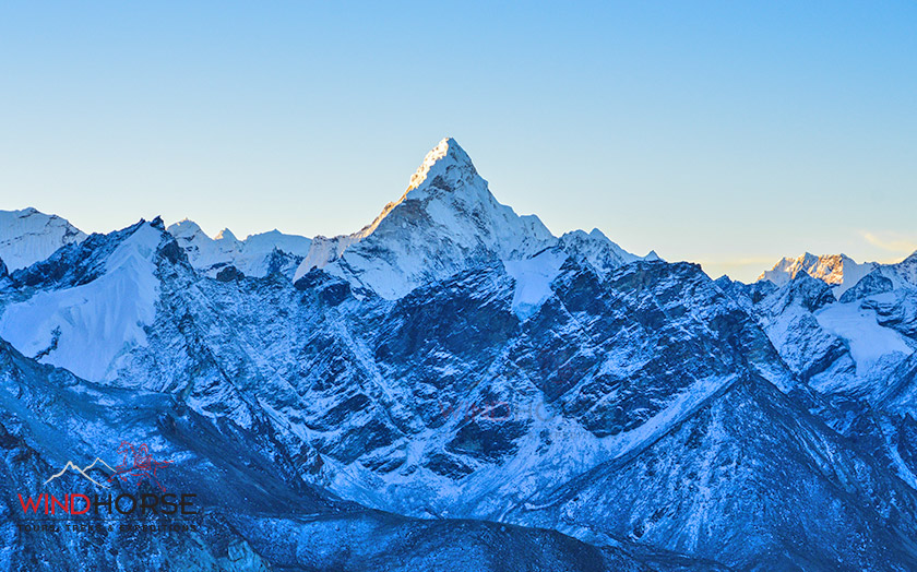 Mt. Aama Dablam(6856m) and other mountain ranges, a view seen from Kalapatthar.