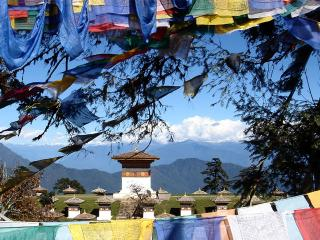 Road from Paro to Punakha