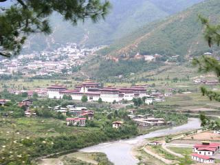 Tashicho Dzong as seen from north