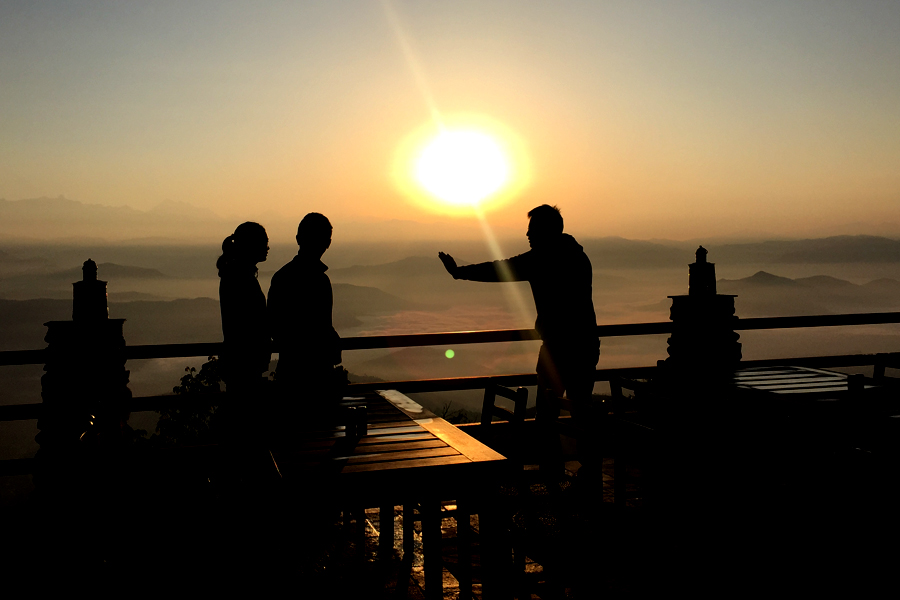 Guests Are ENjoying with SUnrise View from Nagarkot