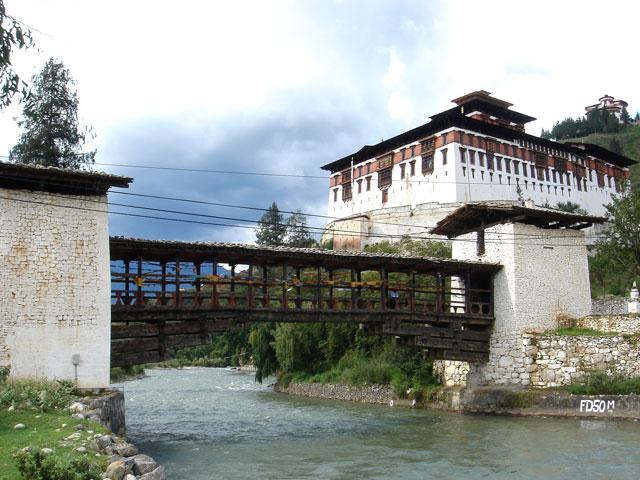 Paro Dzong With Bridge