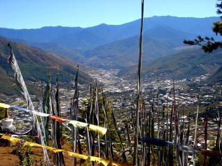 view of Thimphu from Sangaygang.