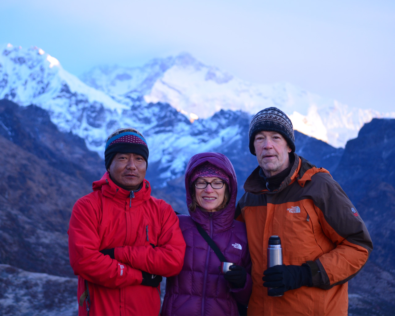 On the way to Goechela from Lamuney with Guide Karma Lama