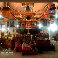 Inside the Tangbuche Monastery