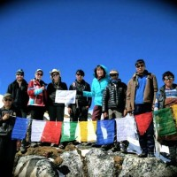 Snowman Trek - At Rinchen Zoe La Pass (5320 m) in Lunana. October,2014