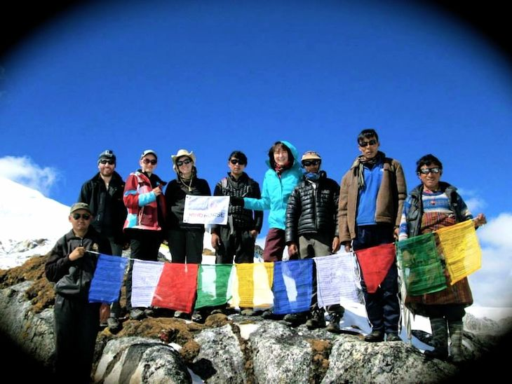 Snowman Trek - At Rinchen Zoe La Pass (5320 m) in Lunana. October,2014