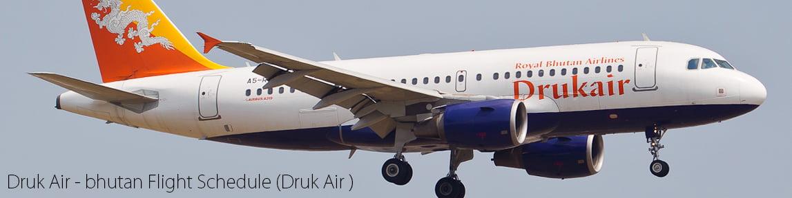 Bhutan Flight Schedule