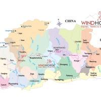 Political Map of Bhutan