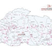 Map of Bhutan (Trekking)