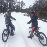 Two guide at Tegola Pass (Haa) winter 2016