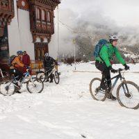 Bike in snow in upper Phobjika region (Jan 2016)