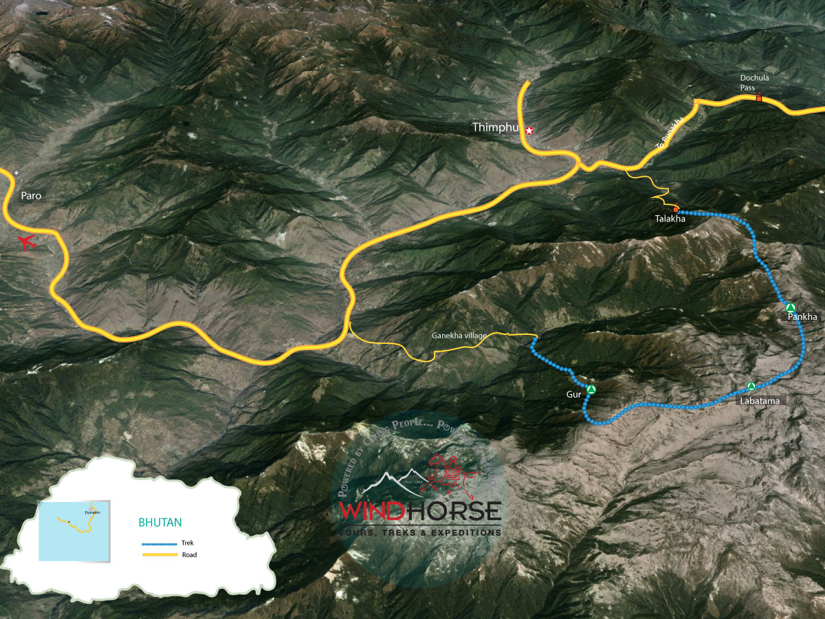 Dagala Trek Trip Map, Route Map